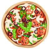 Pizza végétarienne illustration libre de droits