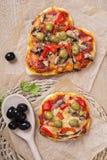 Pizza végétarienne - coeur Image libre de droits