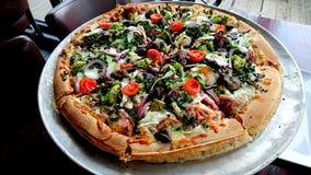 Pizza végétarienne de Pizza Hut image libre de droits
