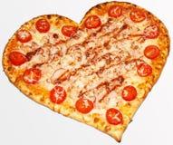 Pizza valentin dag Royaltyfria Foton