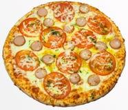 Pizza valentin dag Arkivfoton