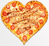 Pizza valentin dag Fotografering för Bildbyråer