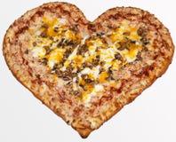 Pizza valentin dag Royaltyfri Foto