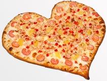 Pizza valentin dag Royaltyfri Bild