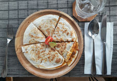Pizza van Eettafel Stock Fotografie