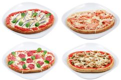 Pizza variations Stock Photos
