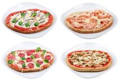 Pizza variations Stock Photos