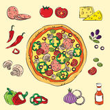 Pizza variopinta Fotografia Stock Libera da Diritti