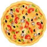 Pizza. Vecteur illustration stock