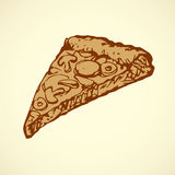 Pizza. Vector drawing Stock Photography