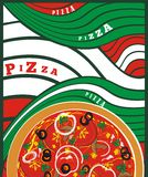 Pizza -vector drawing Stock Images