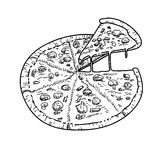 Pizza Vector Royalty Free Stock Images