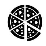 Pizza vector icon. Italian fast food cafe logo illustration. Pizzeria icon. Pizza vector icon. Italian fast food cafe logo illustration. Pizzeria icon stock illustration