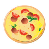 Pizza vector illustration. Isolated on white background Royalty Free Stock Photos
