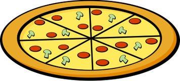Pizza vector illustration. Vector illustration of a pizza Stock Photos