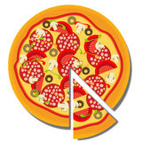 Pizza. vector illustration Royalty Free Stock Photo