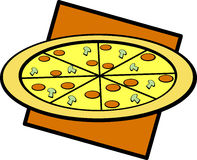 Pizza vector illustration Royalty Free Stock Photo