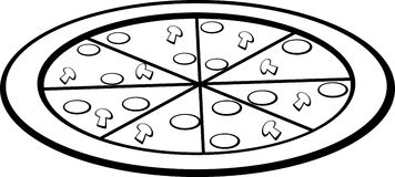 Pizza vector illustration Stock Photography