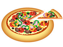 Pizza Vector Illustration Royalty Free Stock Images