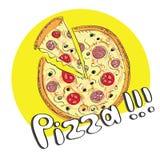 Pizza vector illustration Stock Photo