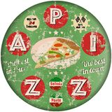 Pizza, vector illustration Stock Photography