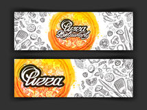 Pizza vector logo design template. eatery, diner or restaurant icons Royalty Free Stock Images