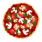 Pizza in vector Royalty Free Stock Photography