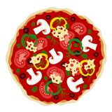 Pizza in vector Stock Images