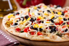 Pizza with vegetables Royalty Free Stock Photography