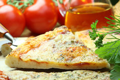 Pizza and vegetables. Royalty Free Stock Photos