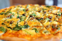 Pizza with vegetables Stock Photography