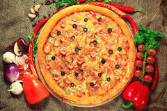 Pizza with vegetables Stock Image