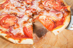 Pizza with vegetables and other Royalty Free Stock Photography