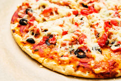 Pizza vegetables sauce Royalty Free Stock Photos