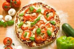 Pizza vegetal Foto de archivo libre de regalías
