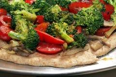 Pizza vegetal Imagen de archivo libre de regalías