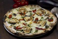 Pizza vegetal Foto de archivo