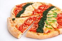 Pizza vegetal rebanada foto de archivo libre de regalías