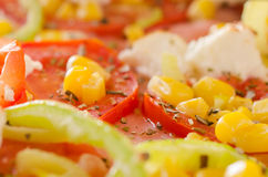 Pizza vegetarian close up Stock Photo