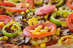 Pizza Vegetarian - close up Royalty Free Stock Photo