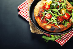 Pizza vegetarian Stock Images