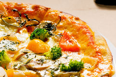 Pizza vegetariana Immagine Stock