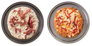 Pizza vegetariana Imágenes de archivo libres de regalías