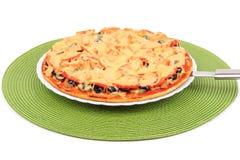Pizza vegetariana fotografie stock libere da diritti