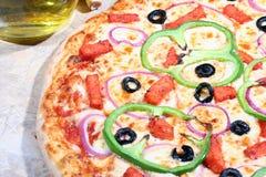 Pizza vegetariana foto de archivo libre de regalías