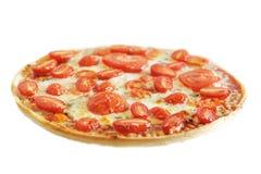 Pizza vegetariana caliente Foto de archivo libre de regalías