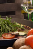 Pizza vegetariana casalinga Fotografie Stock
