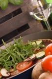 Pizza vegetariana casalinga Fotografia Stock