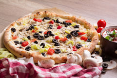 Pizza Vegetariana Stock Photos