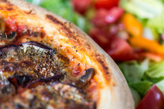 Pizza vegetariana saporita fotografie stock libere da diritti
